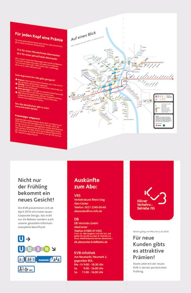 Corporate Design - Broschüre - KVB Kölner Verkehrsbetriebe