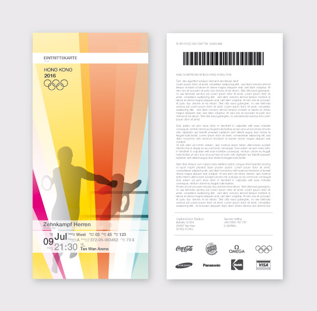 Eintrittskarte Olympic Games Hong Kong