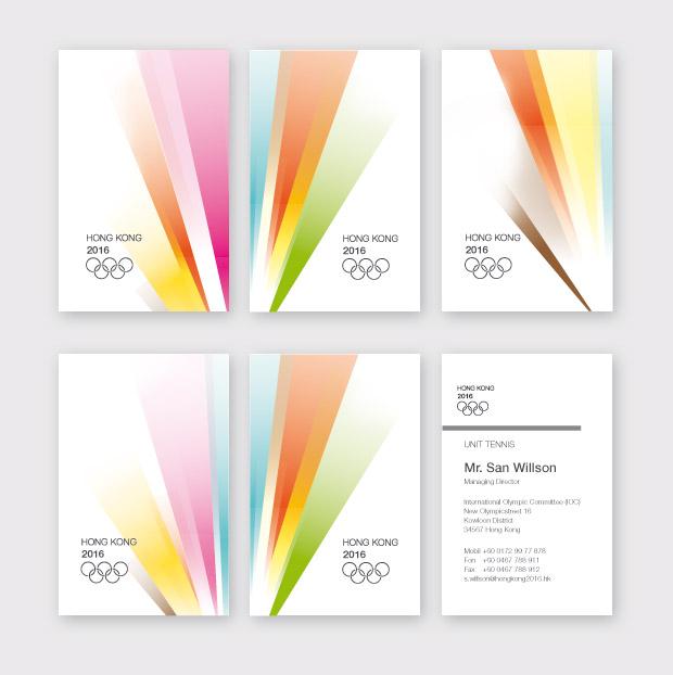 Visitenkarten Olympic Games Hong Kong