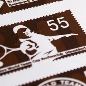 Briefmarken Sonderausgabe – 30 Jahre World Team Cup Düsseldorf