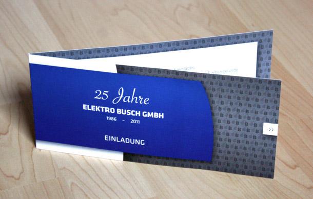 25 jahre elektro busch – firmenbroschüre und einladung | tifroeh, Einladung