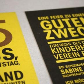 Grafikdesign – Einladungskarte 'Klaus'