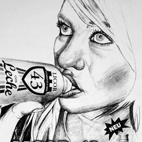Licor 43 con leche - fiktive Markenentwicklung und Illustration