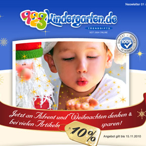 Webdesign - Newslettertemplate für 123kindergarten.de
