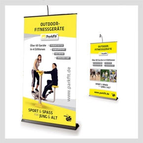 Promotion-Banner/Display - ParkFit Outdoor Fitnessgeräte