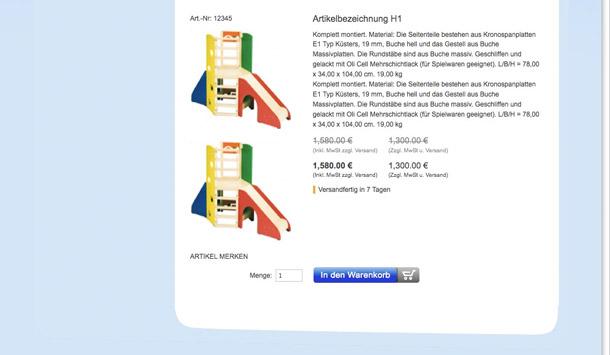 Webdesign für meinebybyflasche.de