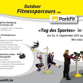 Zeitungsanzeige für Outdoor Fitnessgeräte von ParkFit